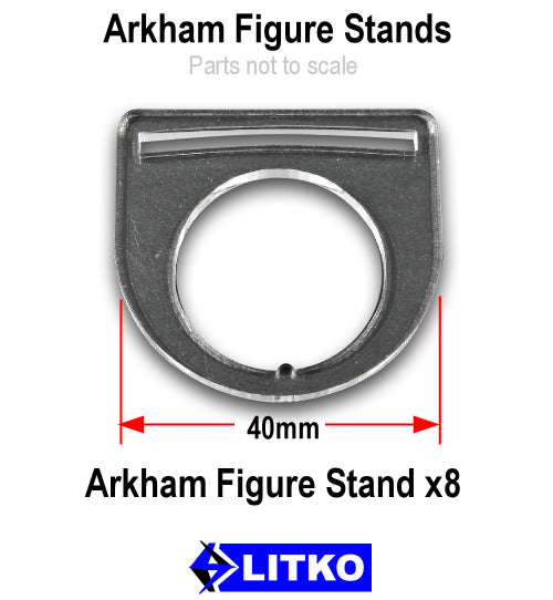 Figure Stands, Clear (8) - LITKO Game Accessories