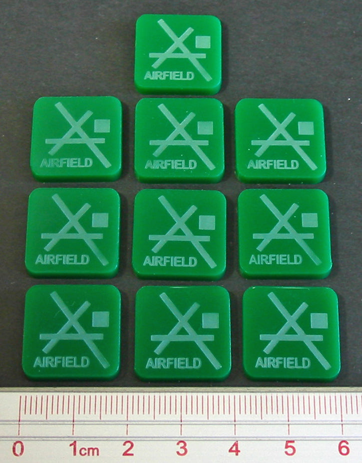 LITKO Airfield Tokens, Green (10) - LITKO Game Accessories