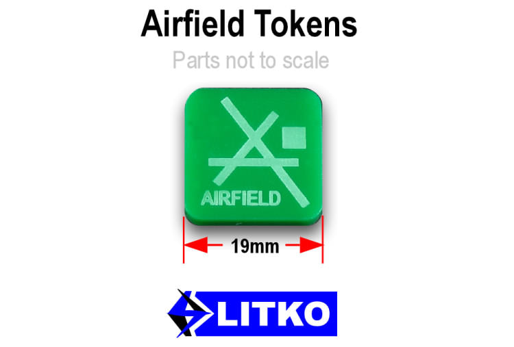 Airfield Tokens, Green (10) - LITKO Game Accessories