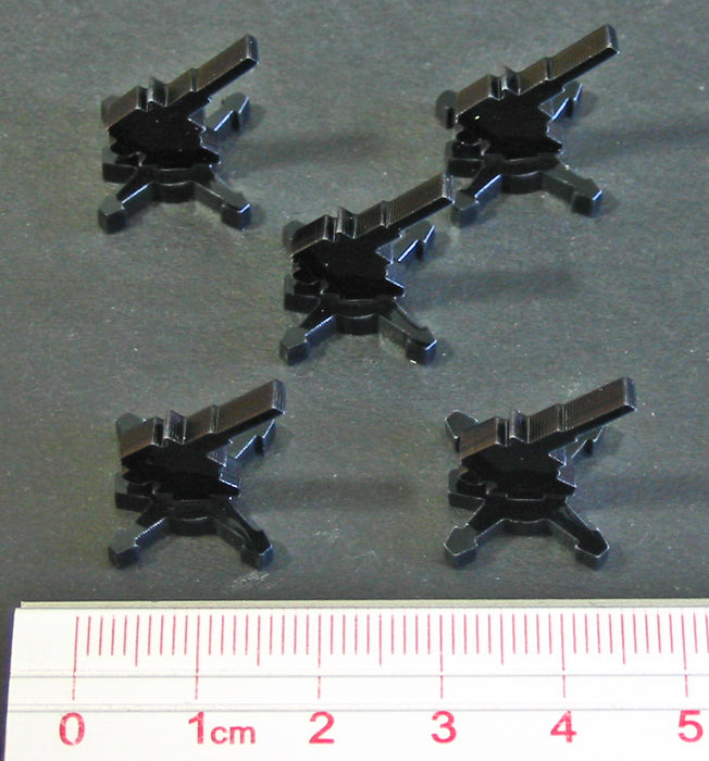 AA Gun Markers, Black (5) - LITKO Game Accessories