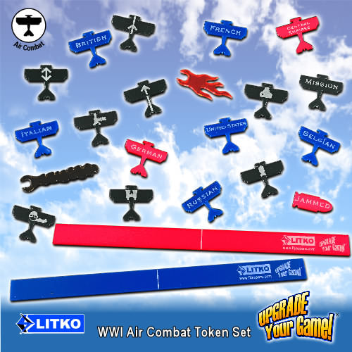 WWI Flight Token Set, Multi-Color (54) - LITKO Game Accessories