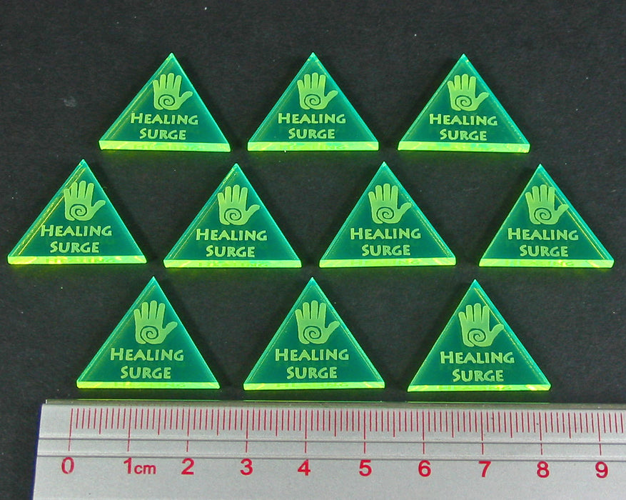 Healing Surge Tokens, Fluorescent Green (10) - LITKO Game Accessories