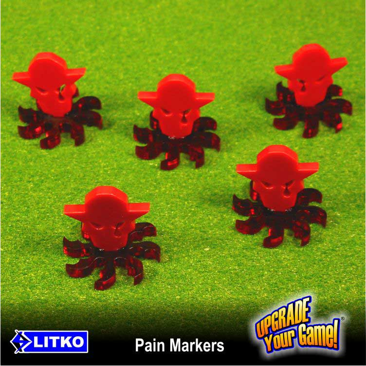 LITKO Pain Markers, Red (5) - LITKO Game Accessories