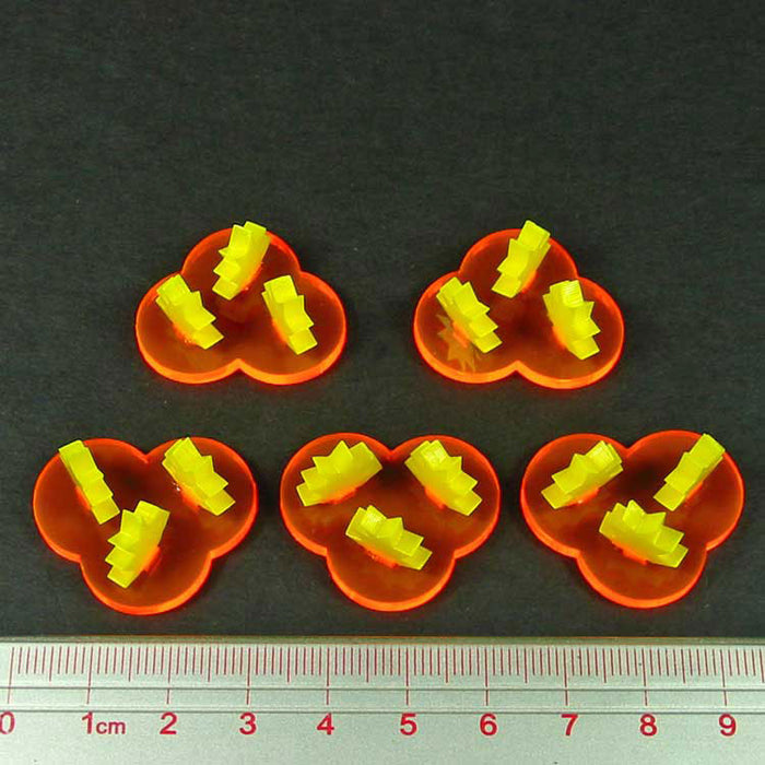 Gothic Space Blast Markers, Fluorescent Orange and Yellow (5) - LITKO Game Accessories