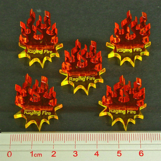 Raging Fire Markers (5) - LITKO Game Accessories
