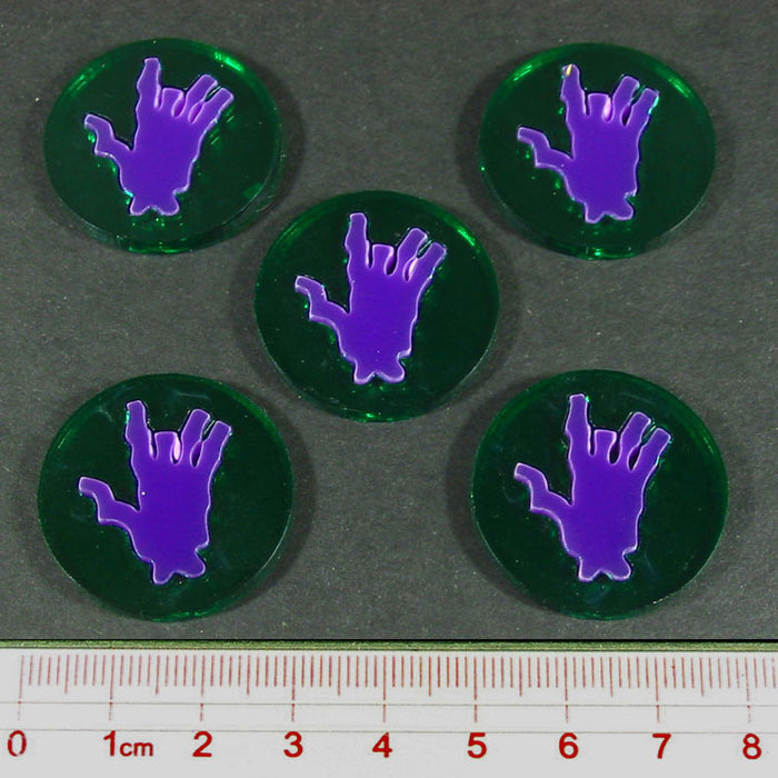 Steampunk Horror Body Part Tokens (5) - LITKO Game Accessories