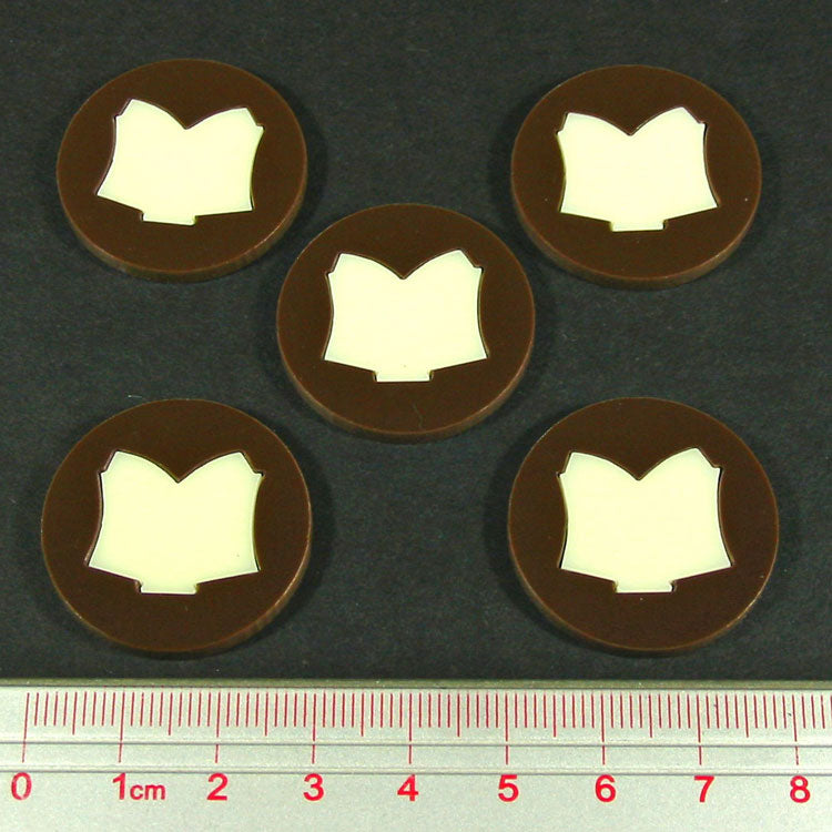 LITKO Steampunk Horror Tome Tokens (5) - LITKO Game Accessories