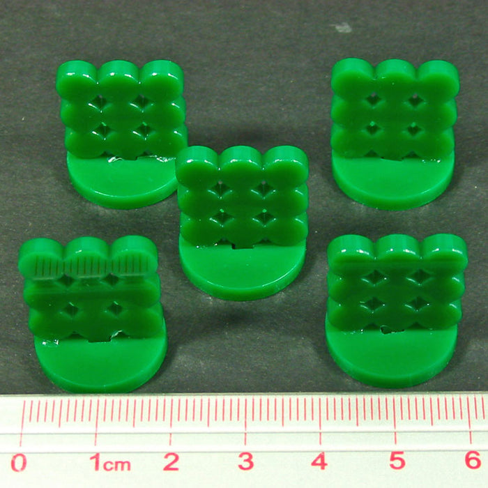 Supply Depot Markers, Green (5) - LITKO Game Accessories