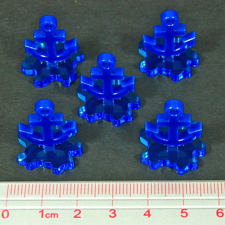 Naval Base Markers, Blue (5) - LITKO Game Accessories