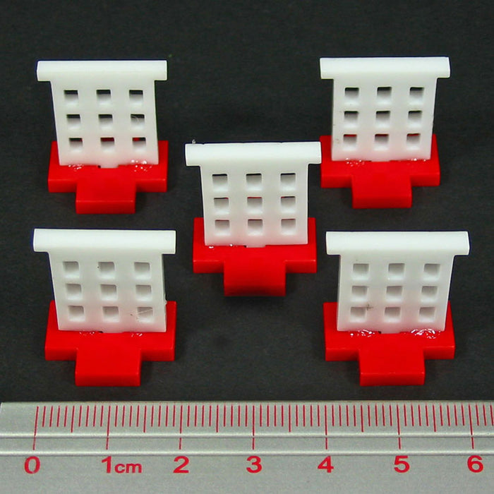 LITKO Hospital Markers, Red & White (5) - LITKO Game Accessories