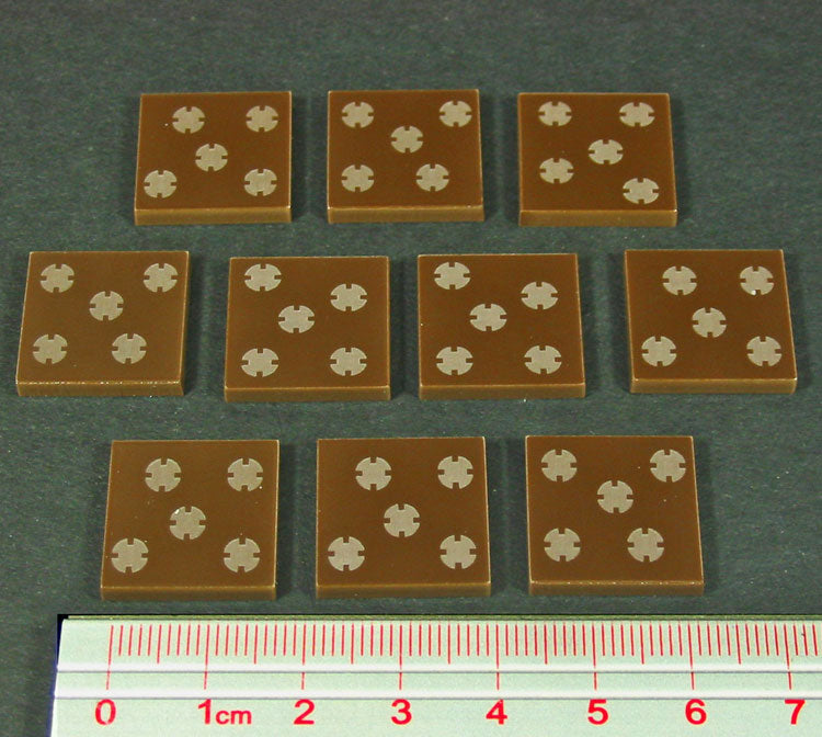 MineField Tokens, Brown (10) - LITKO Game Accessories