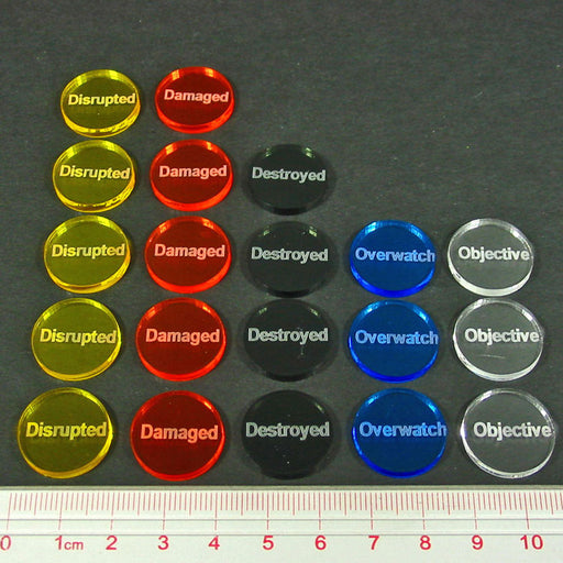 WWII Land Battle Token Set, Multi-Color (20) - LITKO Game Accessories