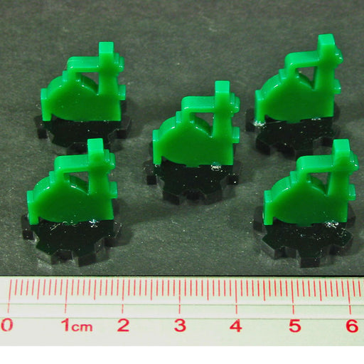 Refinery Markers, Green & Black (5) - LITKO Game Accessories