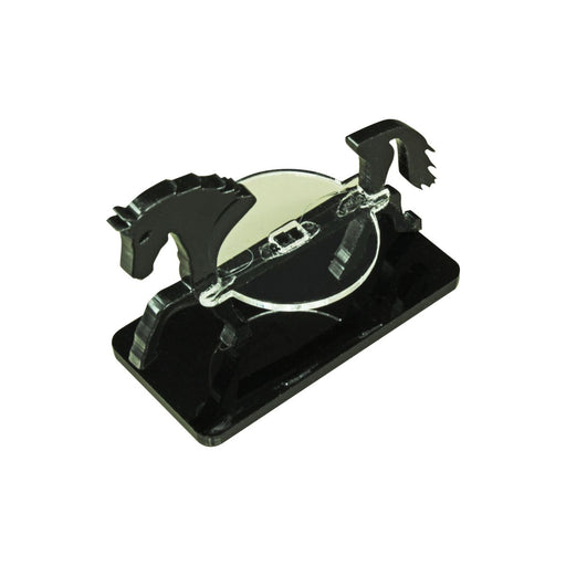 Horse Character Mount with 25x50mm Base, Black - LITKO Game Accessories