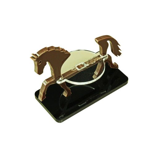 Horse Character Mount with 25x50mm Base, Brown - LITKO Game Accessories