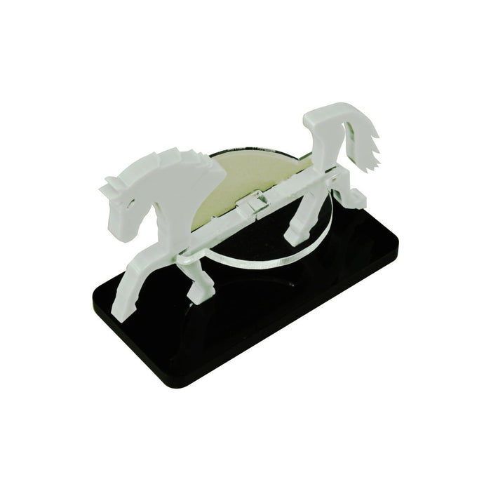 Horse Character Mount with 25x50mm Base, Grey - LITKO Game Accessories