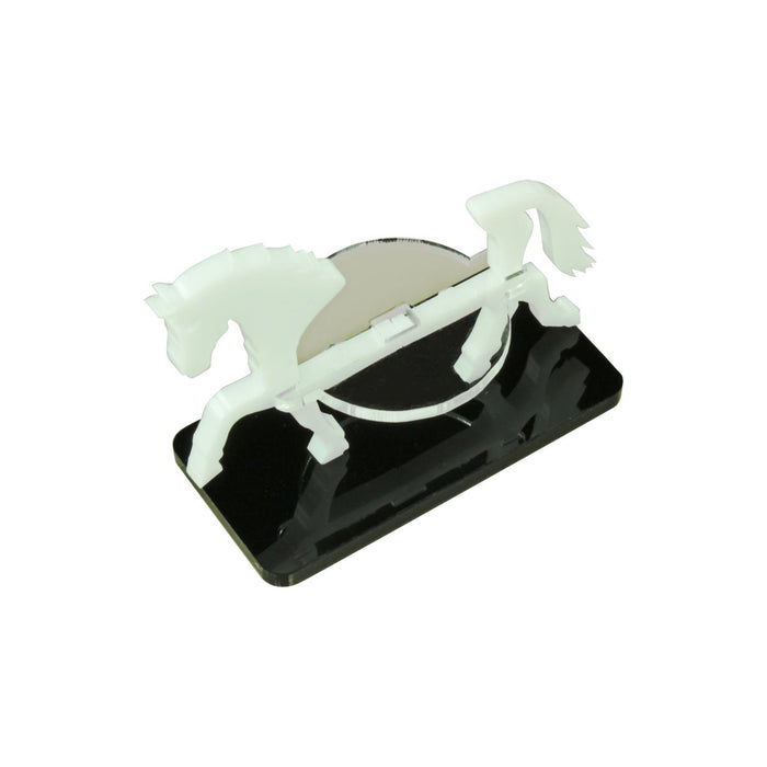 Horse Character Mount with 25x50mm Base, White - LITKO Game Accessories