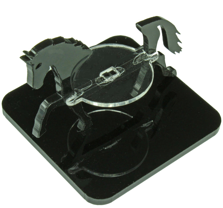 Horse Character Mount with 2-inch Square Base, Black - LITKO Game Accessories