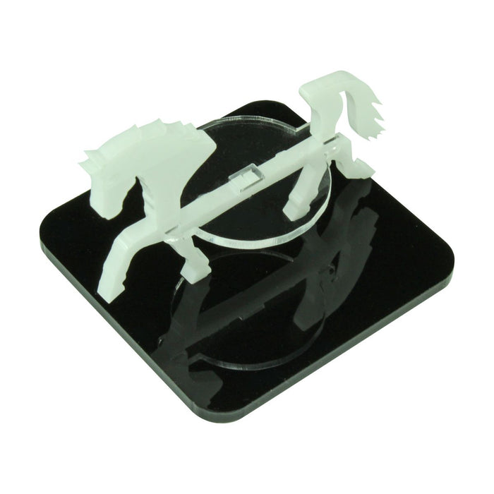 Horse Character Mount with 2 inch Square Base, White - LITKO Game Accessories