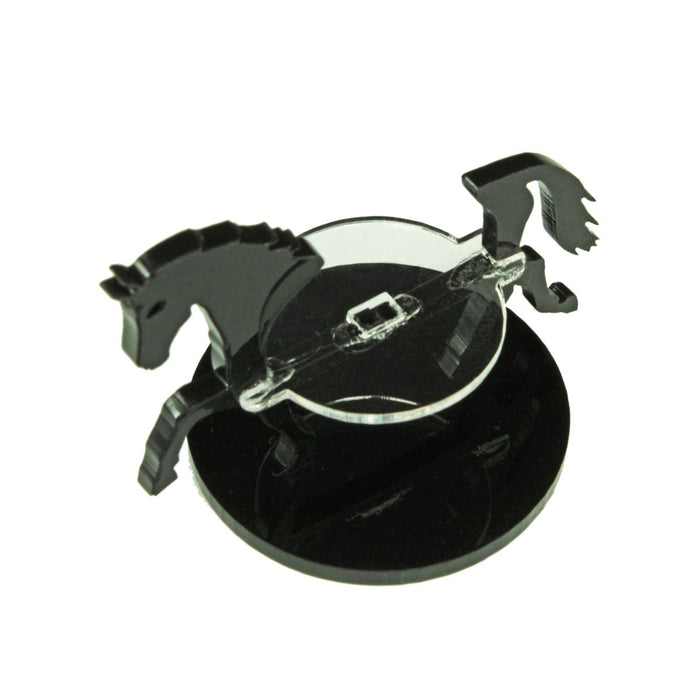 Horse Character Mount with 50mm Circular Base, Black - LITKO Game Accessories