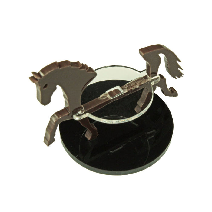 Horse Character Mount with 40mm Circular Base, Brown - LITKO Game Accessories
