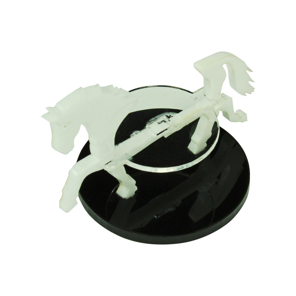 Horse Character Mount with 40mm Circular Base, White - LITKO Game Accessories