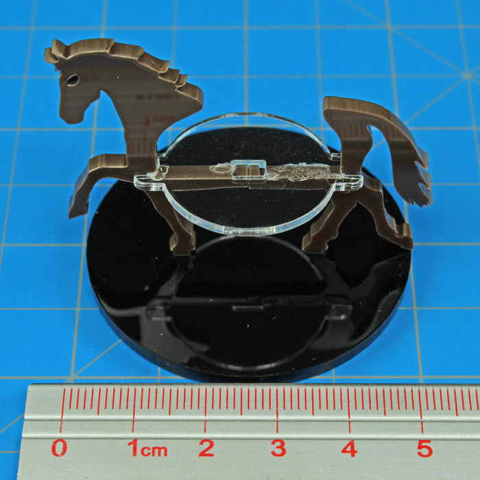 Horse Character Mount with 50mm Circular Base, Brown - LITKO Game Accessories