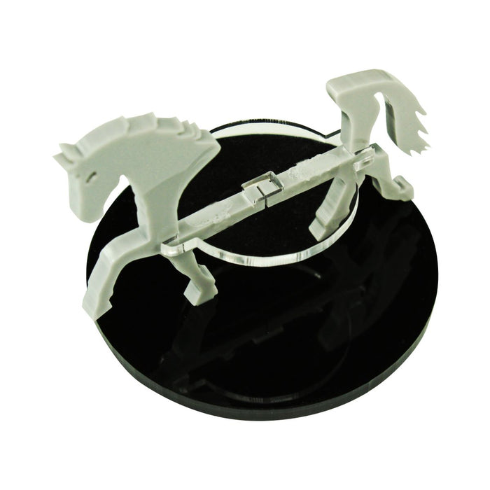 Horse Character Mount with 50mm Circular Base, Grey - LITKO Game Accessories