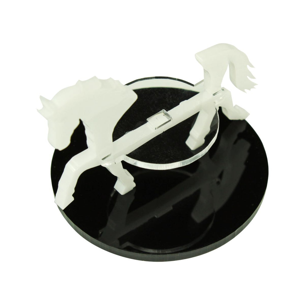 Horse Character Mount with 50mm Circular Base, White - LITKO Game Accessories