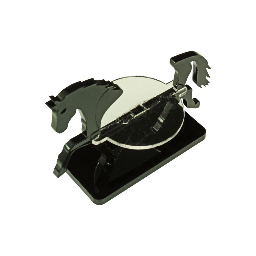 Warhorse Character Mount with 25x50mm Base, Black - LITKO Game Accessories