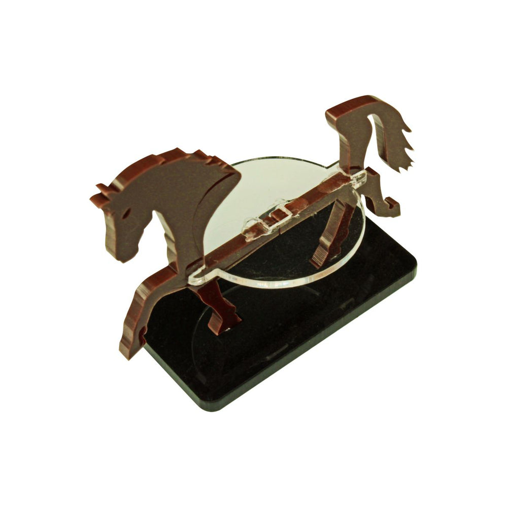 Warhorse Character Mount with 25x50mm Base, Brown - LITKO Game Accessories
