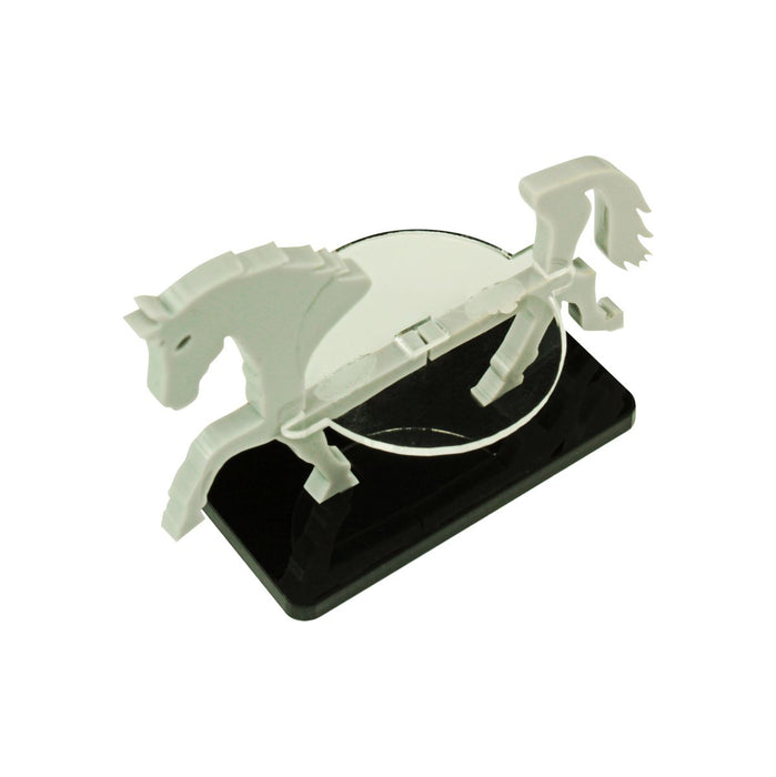 Warhorse Character Mount with 25x50mm Base, Grey - LITKO Game Accessories