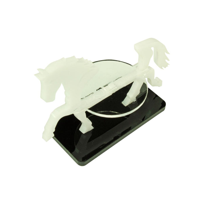 Warhorse Character Mount with 25x50mm Base, White - LITKO Game Accessories
