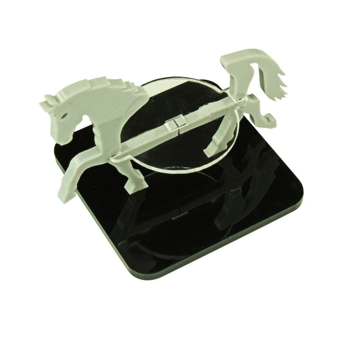 Warhorse Character Mount with 2-inch Square Base, Grey - LITKO Game Accessories