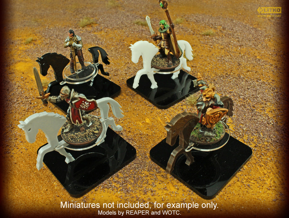 Warhorse Character Mount with 2-inch Square Base, Black - LITKO Game Accessories