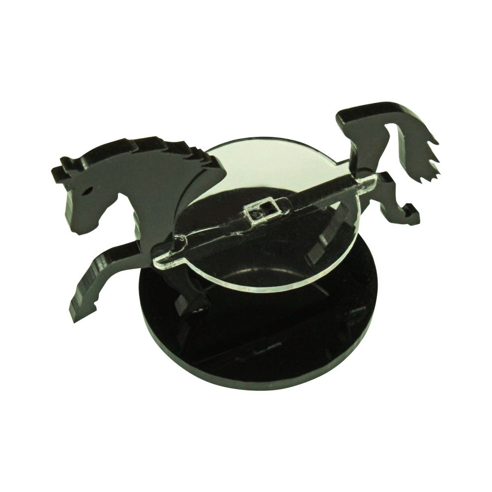Warhorse Character Mount with 40mm Circular Base, Black - LITKO Game Accessories