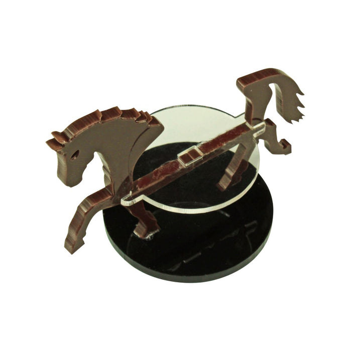 Warhorse Character Mount with 40mm Circular Base, Brown - LITKO Game Accessories