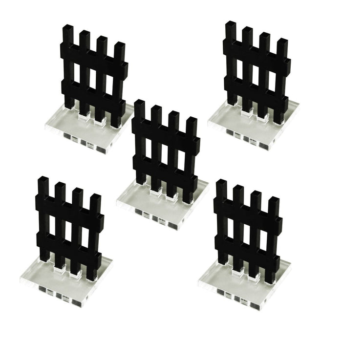 Portcullis Markers, Black (5) - LITKO Game Accessories