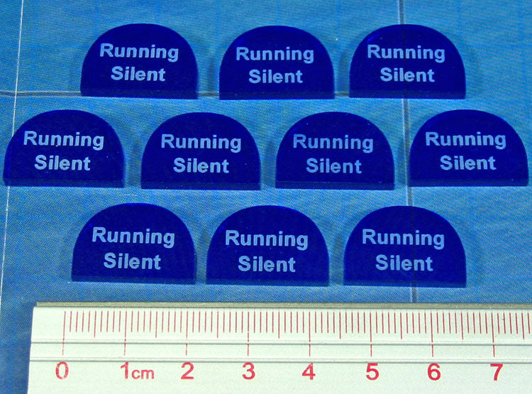 Running Silent Tokens, Translucent Blue (10) - LITKO Game Accessories