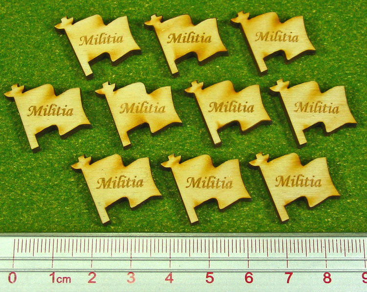 Militia Tokens, Natural Wood (10) - LITKO Game Accessories