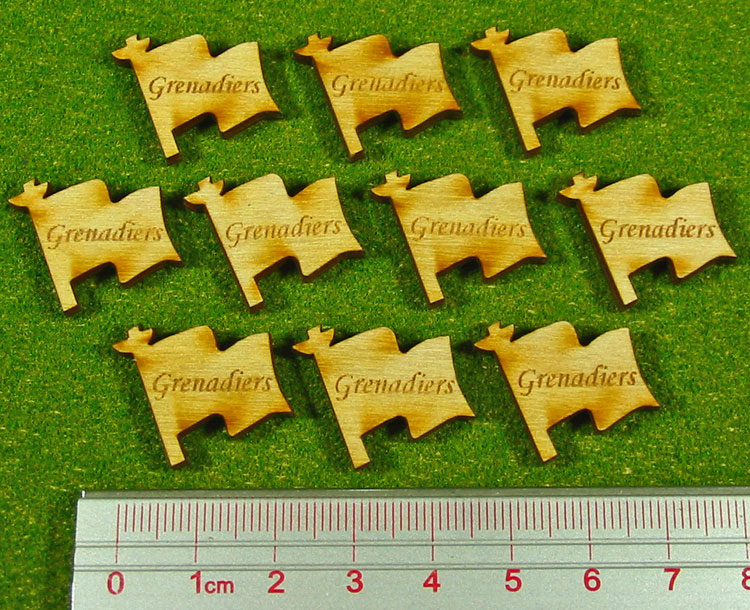 Grenadiers Tokens, Natural Wood (10) - LITKO Game Accessories