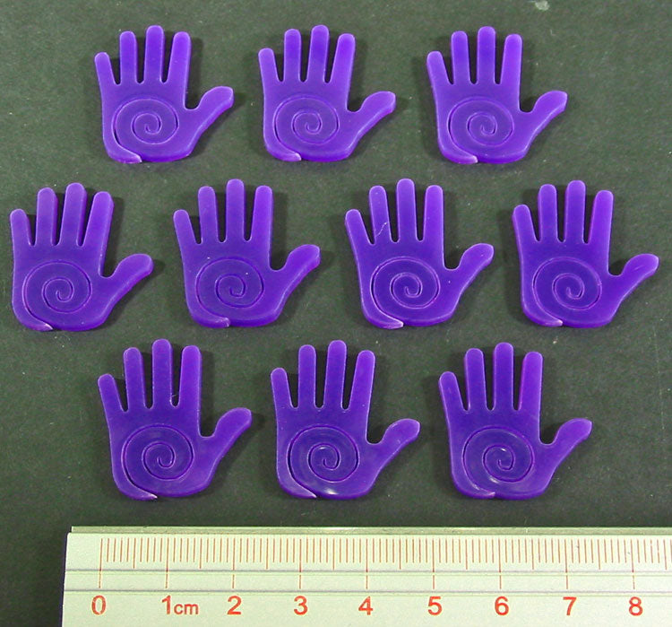 Mystic Hand Tokens, Purple (10) - LITKO Game Accessories
