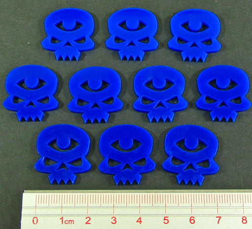 Psychic Skull Tokens, Blue (10) - LITKO Game Accessories