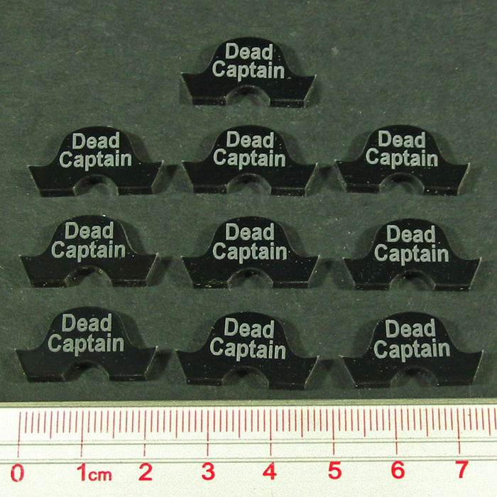 Dead Captain Tokens, Black (10) - LITKO Game Accessories