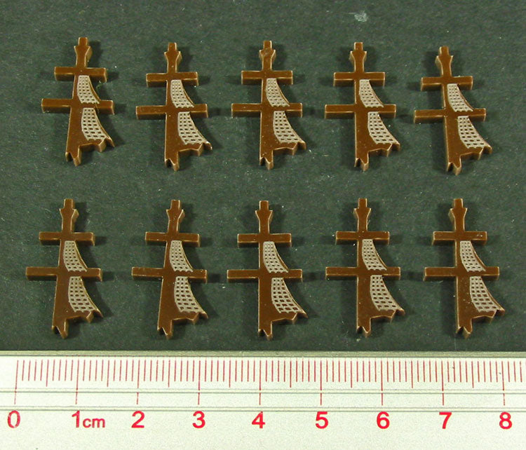 Mast Down Tokens, Brown (10) - LITKO Game Accessories