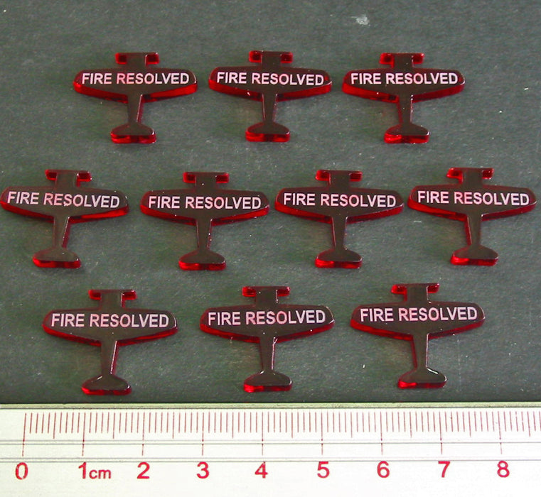 Fire Resolved Tokens, Translucent Red (10) - LITKO Game Accessories