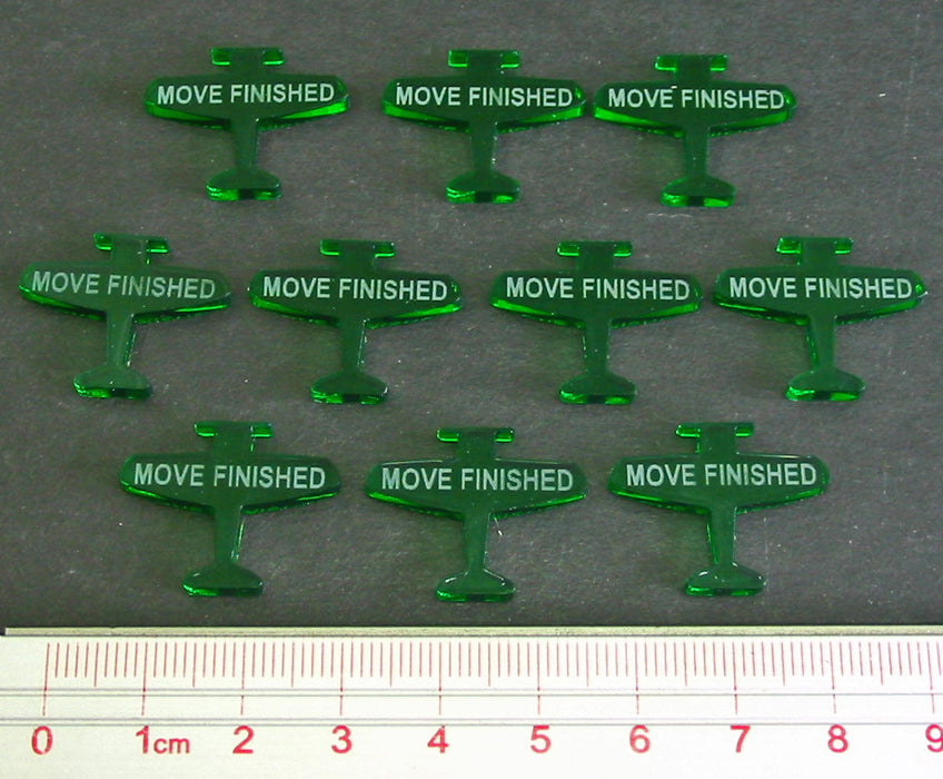 Move Finished Tokens, Translucent Green (10) - LITKO Game Accessories