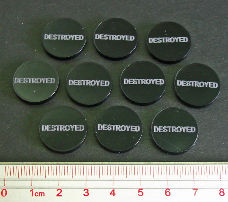 Destroyed Tokens, Translucent Grey (10) - LITKO Game Accessories