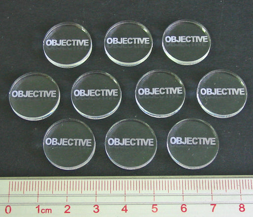 Objective Tokens, Clear (10) - LITKO Game Accessories