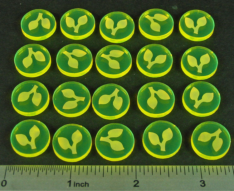 LITKO Seed Resource Tokens, Fluorescent Yellow (20) - LITKO Game Accessories